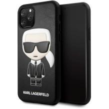 """Оригинален кожен гръб Karl Lagerfeld за Apple iPhone 12 Pro Max 6.7"""" - черен / Karl Head"""