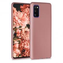 Силиконов калъф / гръб / TPU за Samsung Galaxy A41 - rose gold / мат