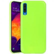 Силиконов калъф / гръб / TPU NORDIC Jelly Case за Samsung Galaxy A70 - лайм