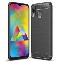 Силиконов калъф / гръб / TPU за Motorola Moto E6 Plus - черен / carbon