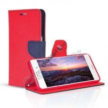Калъф Flip тефтер Mercury GOOSPERY Fancy Diary със стойка за Acer Liquid Z630 - червен