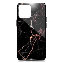 "Луксозен гръб за Apple iPhone 11 6.1"" - мрамор / черен"