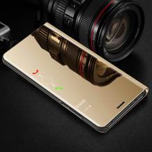 Луксозен калъф Clear View Cover с твърд гръб за Xiaomi Mi A2 / Mi 6X - златист