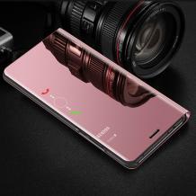 Луксозен калъф Clear View Cover с твърд гръб за Xiaomi Redmi Note 5 / Note 5 Pro - Rose Gold