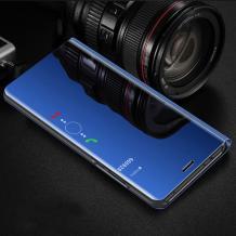 Луксозен калъф Clear View Cover с твърд гръб за Xiaomi Redmi Note 7 - син