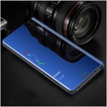 Луксозен калъф Clear View Cover с твърд гръб за Samsung Galaxy Note 10 Plus / Samsung Galaxy Note 10 Pro N976  - син