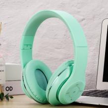 Стерео слушалки Bluetooth A7 / Wireless Headphones / безжични слушалки A7 - мента