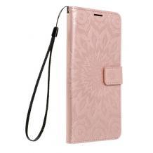 """Кожен калъф Mezzo Book със стойка за Apple iPhone 12 Mini 5.4"""" – Rose Gold"""