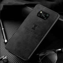 Луксозен гръб Deer за Xiaomi Mi 10T Lite - черен