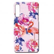 Силиконов калъф / гръб / TPU LUXO за Huawei Nova 5T / Honor 20 - цветя / розово фламинго