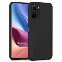 Силиконов калъф / гръб / TPU за Xiaomi Poco F3 - черен / мат