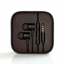 Оригинални стерео слушалки / handsfree / за Xiaomi - черни
