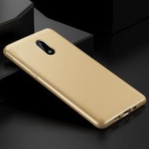 Силиконов калъф / гръб / TPU за Alcatel 5 Dual 5086D - златист / мат