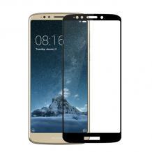 3D full cover Tempered glass screen protector Motorola Moto E5 Plus / Извит стъклен скрийн протектор за Motorola Moto E5 Plus - черен