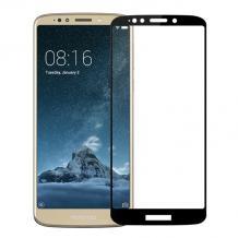 3D full cover Tempered glass screen protector Motorola Moto E5 / Извит стъклен скрийн протектор Motorola Moto E5 - черен