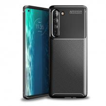 Луксозен силиконов калъф / гръб / TPU Auto Focus за Motorola Moto Edge - черен / Carbon