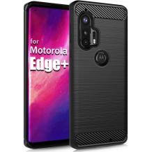 Силиконов калъф / гръб / TPU за Motorola Moto Edge Plus - черен / carbon