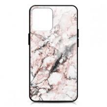 Луксозен гръб за Huawei P30 lite - мрамор / бял с розово