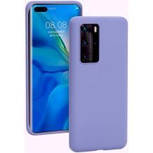 Луксозен силиконов калъф / гръб / Nano TPU за Huawei P40 Pro - Светло лилав
