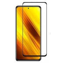 Удароустойчив протектор Full Cover / Nano Flexible Screen Protector с лепило по цялата повърхност за дисплей на Xiaomi Poco X3 – черен