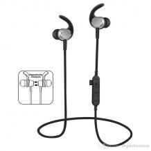 Стерео Bluetooth / Wireless слушалки MS-T3 - черни със сребристо