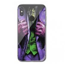 Луксозен стъклен твърд гръб за Huawei P Smart Z - Joker / Suit
