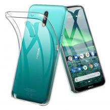 Ултра тънък силиконов калъф / гръб / TPU Ultra Thin за Nokia 2.3 - прозрачен