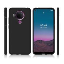 Силиконов калъф / гръб / TPU за Nokia 5.4 - черен / мат