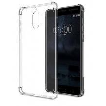 Удароустойчив силиконов калъф за Nokia 3.1 Plus - прозрачен