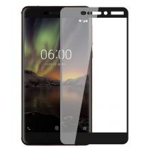 4D EQUIPTORS full cover Tempered glass Full Glue screen protector Nokia 6 2017 / Извит стъклен скрийн протектор с лепило от вътрешната страна за Nokia 6 2017 - черен