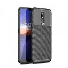 Луксозен силиконов калъф / гръб / TPU Auto Focus за Sony Xperia 1 - черен / Carbon