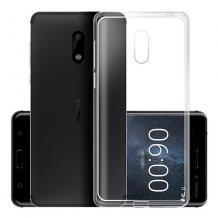 Силиконов калъф / гръб / TPU NORDIC Jelly Case за Nokia 6 - прозрачен