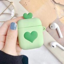 Силиконов калъф за AirPod - Green Heart
