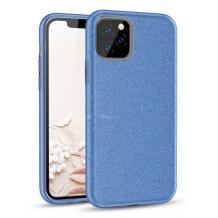 Силиконов калъф / гръб / TPU за Samsung Galaxy Note 20 - син / брокат