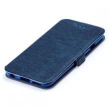 Кожен калъф Flip тефтер Flexi със стойка за Nokia 3.2 - тъмно син