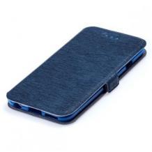 Кожен калъф Flip тефтер Flexi със стойка за Samsung Galaxy A10s - тъмно син