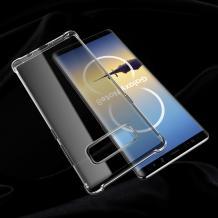 Луксозен силиконов калъф / гръб / TPU ROCK Fence S Series за Samsung Galaxy Note 8 N950 - прозрачен