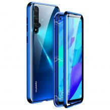 Магнитен калъф Bumper Case 360° FULL за Huawei Honor 20 / Huawei Nova 5T - прозрачен / синя рамка