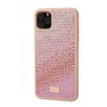 Луксозен твърд гръб Swarovski за Apple iPhone 11 - Rose / камъни