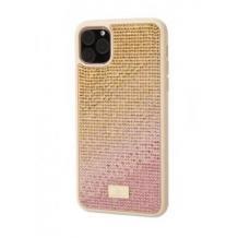 Луксозен твърд гръб Swarovski за Apple iPhone 11 - златист / камъни