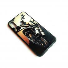 Луксозен стъклен твърд гръб за Samsung Galaxy A10 - мотор