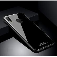 Луксозен стъклен твърд гръб за Huawei P30 Lite - черен