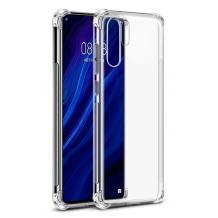 Удароустойчив силиконов калъф за Huawei P30 Pro - прозрачен