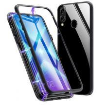 Магнитен калъф Bumper Case 360° FULL за Huawei P20 Lite - прозрачен / черна рамка