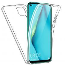 Силиконов калъф / гръб / TPU 360° за Huawei P40 Lite - прозрачен / 2 части / лице и гръб