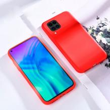 Луксозен силиконов гръб Silicone Cover за Huawei P40 Lite - червен