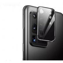 Стъклен протектор / 3D Tempered Glass Camera Lens / за задна камера на Huawei P40 Pro - черен