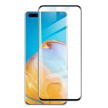 Удароустойчив протектор Full Cover / Nano Flexible Screen Protector с лепило по цялата повърхност за дисплей на Huawei P40 Pro – черен