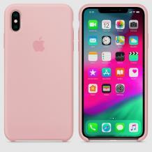 Оригинален гръб Silicone Cover за Apple iPhone X / iPhone XS - пепел от рози