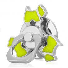 Универсална стойка за телефон / пръстен / Метален Фиджет Спинер / Metal Fidget Spinner - светло зелено куче